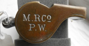 Achme Thunderer whistle issued by the Midland Railway Co